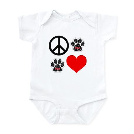 Dogs: Peace, Love & TLC Infant Bodysuit