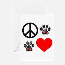 Dogs: Peace, Love & TLC Greeting Card
