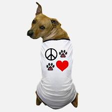 Dogs: Peace, Love & TLC Dog T-Shirt