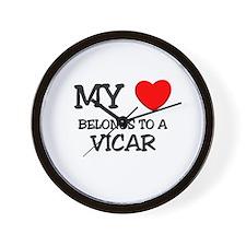 My Heart Belongs To A VICAR Wall Clock