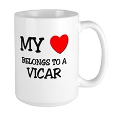 My Heart Belongs To A VICAR Mug