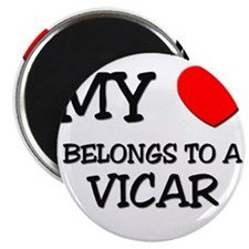 My Heart Belongs To A VICAR Magnet