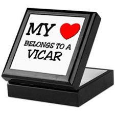 My Heart Belongs To A VICAR Keepsake Box