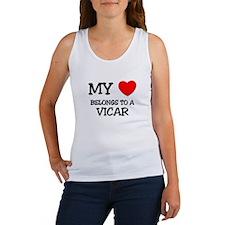 My Heart Belongs To A VICAR Women's Tank Top
