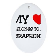 My Heart Belongs To A VIBRAPHONIST Oval Ornament