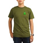 Green Awareness Ribbon Organic Men's T-Shirt (dark