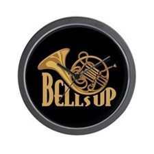 Bells Up Horn Wall Clock