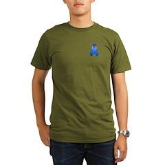 Blue Awareness Ribbon Organic Men's T-Shirt (dark)