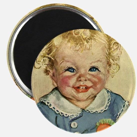 """Vintage Cute Baby 2.25"""" Magnet (10 pack)"""