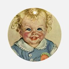 Vintage Cute Baby Ornament (Round)