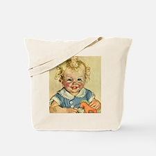 Vintage Cute Baby Tote Bag