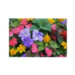 Colorful Flower Pot Rectangle Magnet