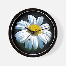 White Daisy Mum Wall Clock