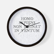 Homo Sapiens Non Urinat in Ve Wall Clock