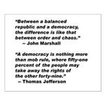 16x20 Republic vs Democracy Poster