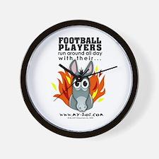 Football Players Wall Clock