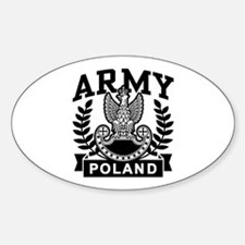 Polish Army Oval Stickers