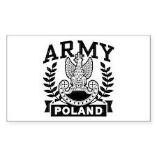 Polish Army Rectangle Decal