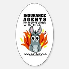 Insurance Agents Oval Decal