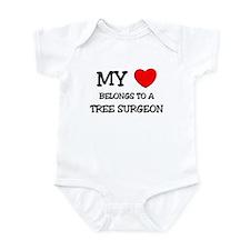 My Heart Belongs To A TREE SURGEON Infant Bodysuit