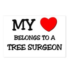 My Heart Belongs To A TREE SURGEON Postcards (Pack