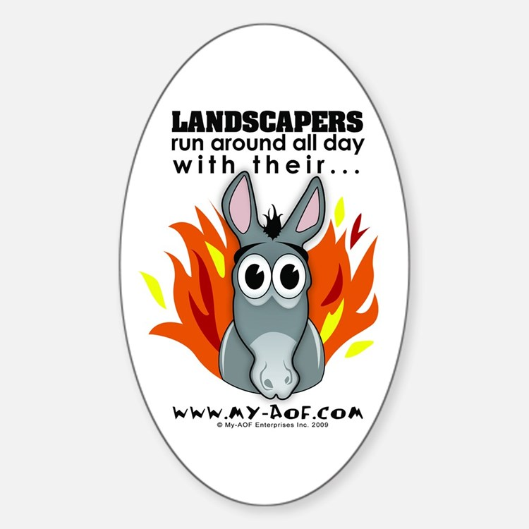 Landscapers Oval Decal