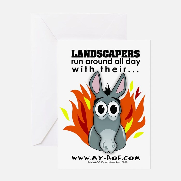 Landscapers Greeting Card