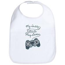 Daddy Plays Game Bib