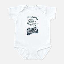 Daddy Plays Game Infant Bodysuit