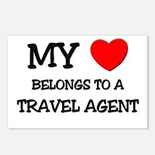 My Heart Belongs To A TRAVEL AGENT Postcards (Pack