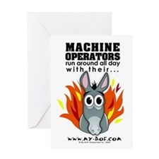 Machine Operators Greeting Card