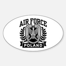 Polish Air Force Oval Decal