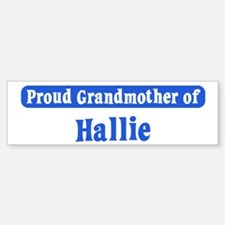 Grandmother of Hallie Bumper Car Car Sticker