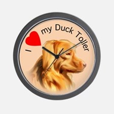 Duck Toller Love Wall Clock