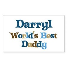 Darryl - Best Daddy Rectangle Decal