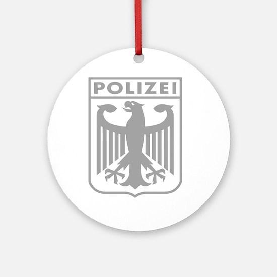 Polizei Ornament (Round)