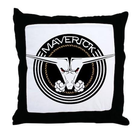 Maverick Head Throw Pillow