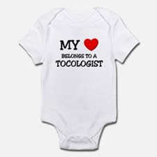 My Heart Belongs To A TOCOLOGIST Infant Bodysuit
