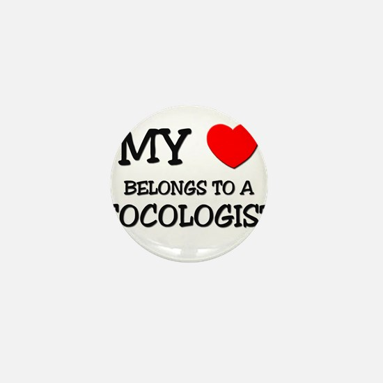 My Heart Belongs To A TOCOLOGIST Mini Button
