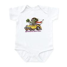 Funny Daddies hot rod Infant Bodysuit