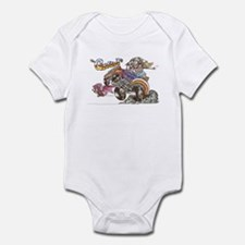Funny Daddies hot rod Infant Bodysuit
