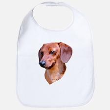 red dachshund Bib
