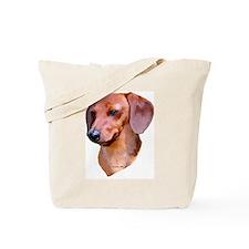 red dachshund Tote Bag