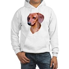 red dachshund Jumper Hoody