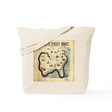 Scott's Great Snake Civil War Cartoon Tote Bag