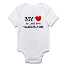 My Heart Belongs To A TELEGRAPHIST Infant Bodysuit