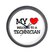 My Heart Belongs To A TECHNICIAN Wall Clock