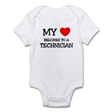 My Heart Belongs To A TECHNICIAN Infant Bodysuit