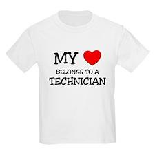 My Heart Belongs To A TECHNICIAN T-Shirt