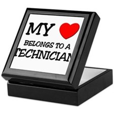 My Heart Belongs To A TECHNICIAN Keepsake Box